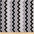 Riley Blake Speedster Sporty Chevron Grey