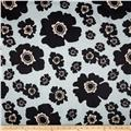 Bartow Indoor/Outdoor Floating Poppies Black/Grey