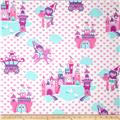 Michael Miller Flannels It's A Girl Thing Princess Land Princess Multi