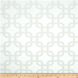 Roller Chain Link Satin Jacquard Snow White