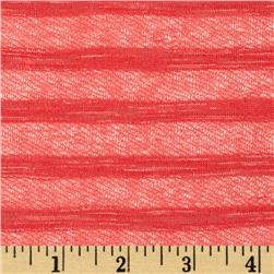 Novelty Stripe Knit Coral Pink