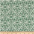 Joyeux Noel Small Damask Green