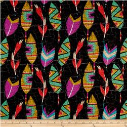 Southwest Feathers Black
