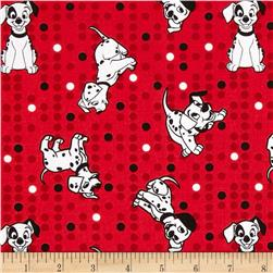 Disney Dalmatians Puppy Toss Red Fabric