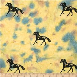 Indian Batik Animal Planet Horse Natural