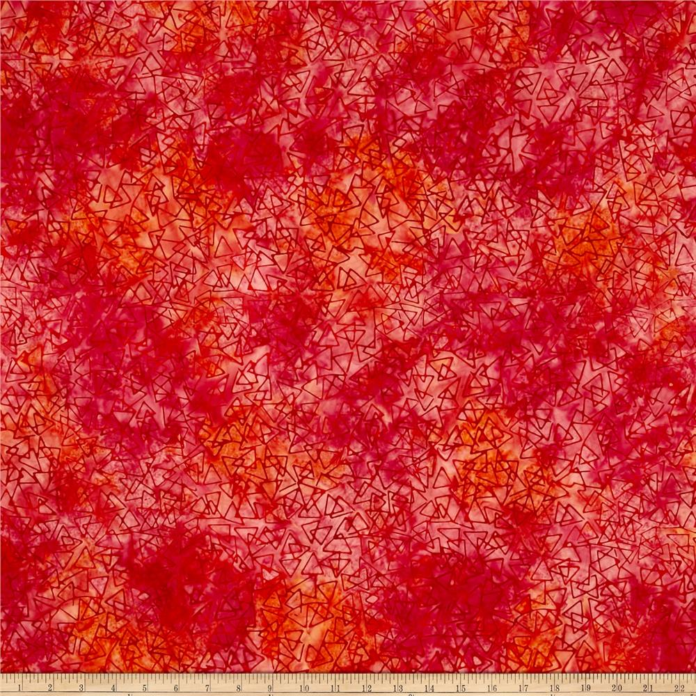 Benartex Bali Batiks Sunset Valley Fuschia/Orange