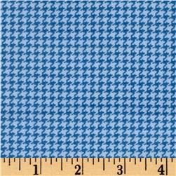 Cozies Flannel Herringbone Blue