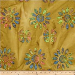 Indian Batik Large Floral Brown/Multi