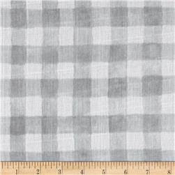Michael Miller Sommer Double Gauze Mini Painted Gingham Gray