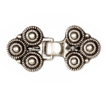 Buckle Spiral Clasp 1 1/4'' Antique Silver