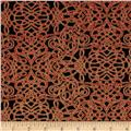 Kaufman Holiday Flourish Metallic Squiggle Holiday