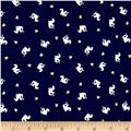 Michael Miller Magic Knit Jersey Baby Dragons Navy