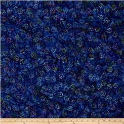 Wilmington Batik Dancing Leaves Purple/Blue