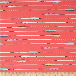 Cotton & Steel Metallic Arrows Pink