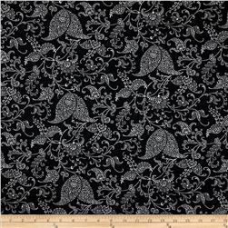 Premier Prints Small Paisley Black/White Fabric