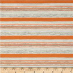 Yarn Dyed Jersey Knit Stripes Orange/Grey