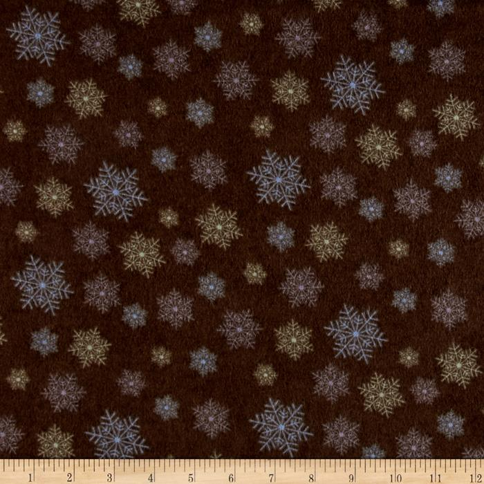 Moda Winter Forest Flannel Snowflakes Sable