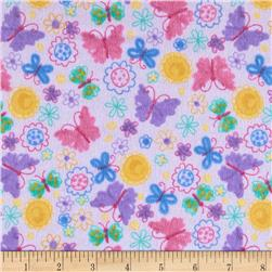 Comfy Flannel Butterflies Purple