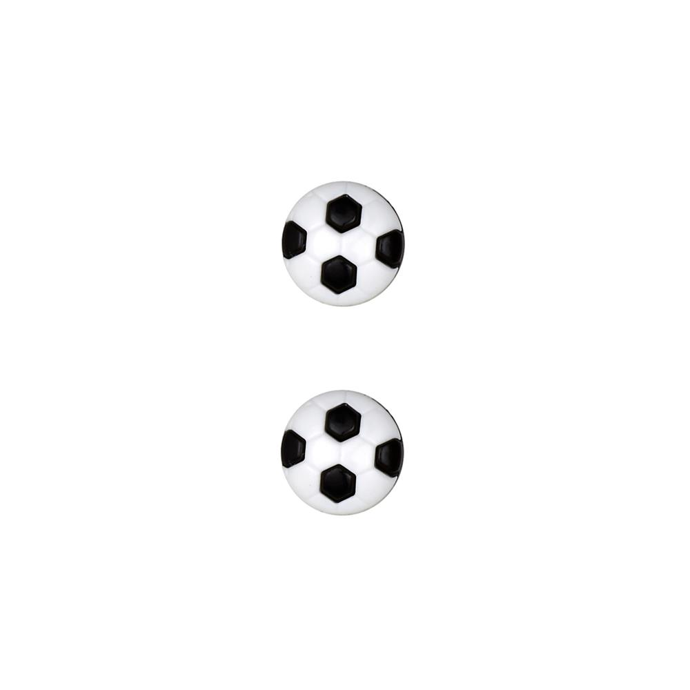 Dill Novelty Button 1/2'' Soccer Black