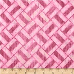 Michael Miller Edges Cicle Grid Pink