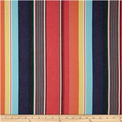 Serape Stripes Deluxe Cotton Grey/Coral