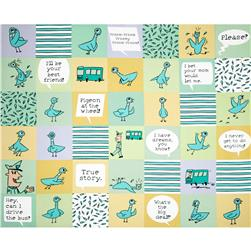 Don't Let the Pigeon Drive Cheater Print Mint/Multi