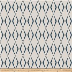 Fabricut Dada Diamond Linen Blend Navy