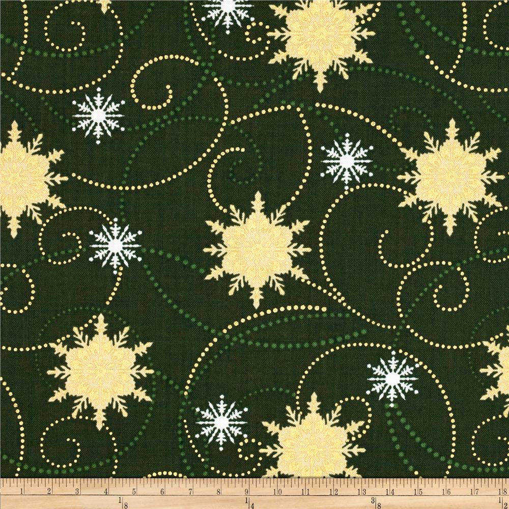 Christmas Spectacular Metallic Winter Stars Pine