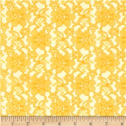Raschel Lace Yellow Gold
