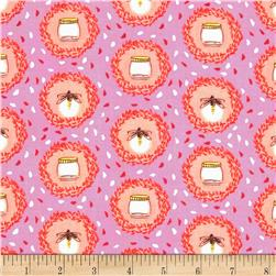 Michael Miller Wee Wander Glow Friends Pink Fabric
