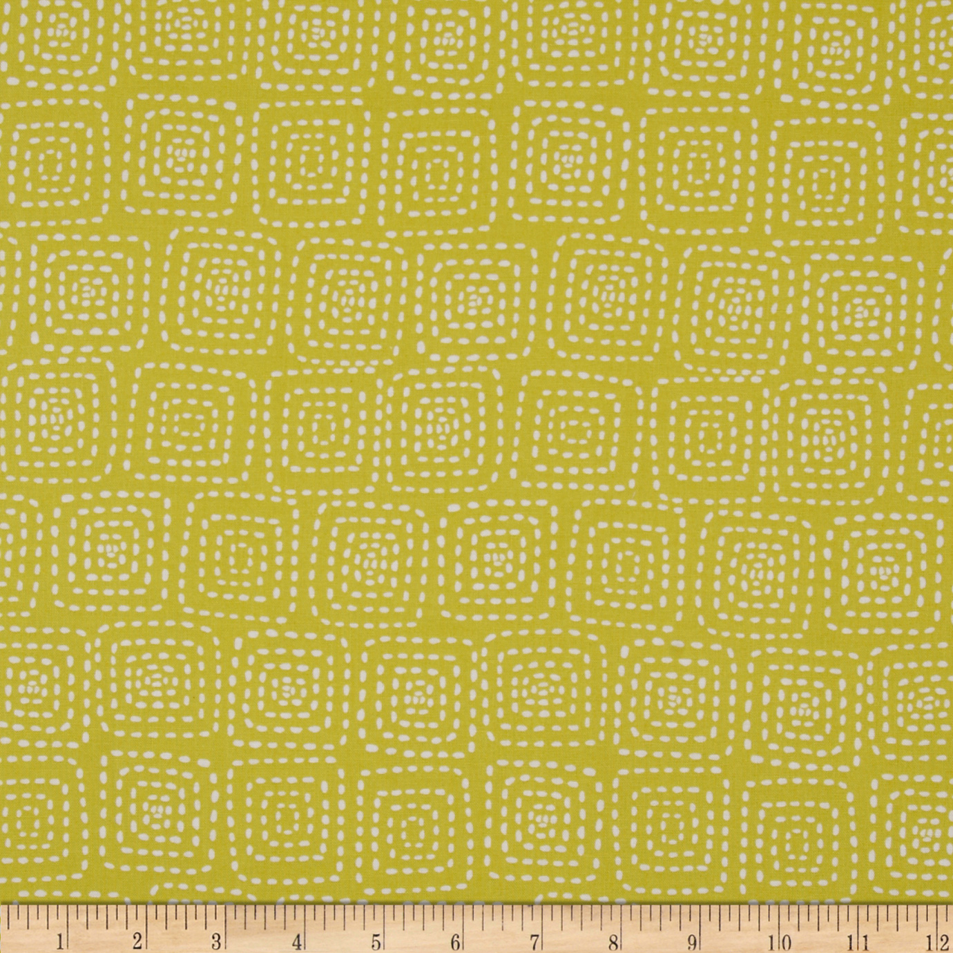 Michael Miller Stitch Square Citron