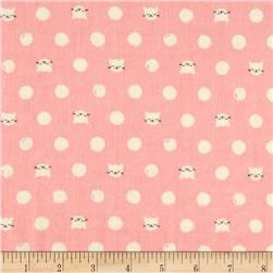 Cotton & Steel Cat Lady Double Gauze Friskers Pink