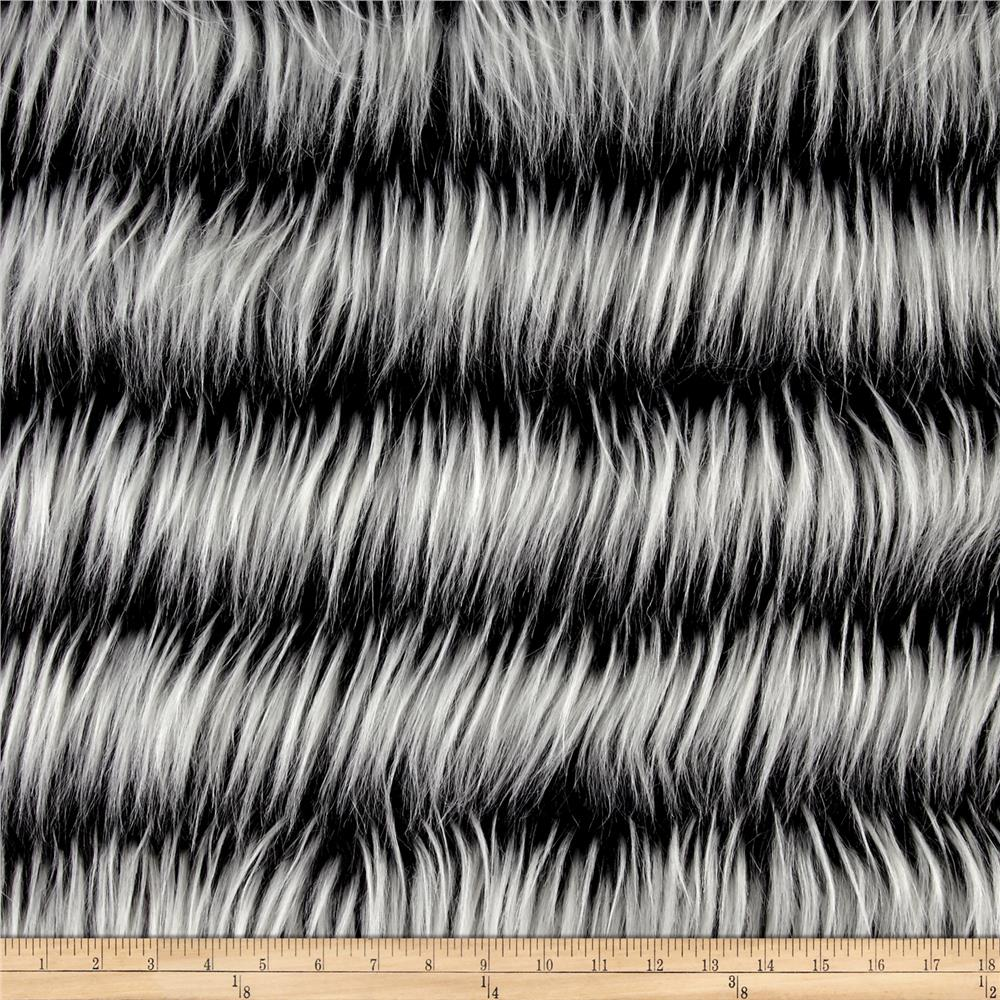 Luxury Faux Fur Fringe Black/White