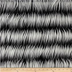Shannon Luxury Faux Fur Fringe Black/White