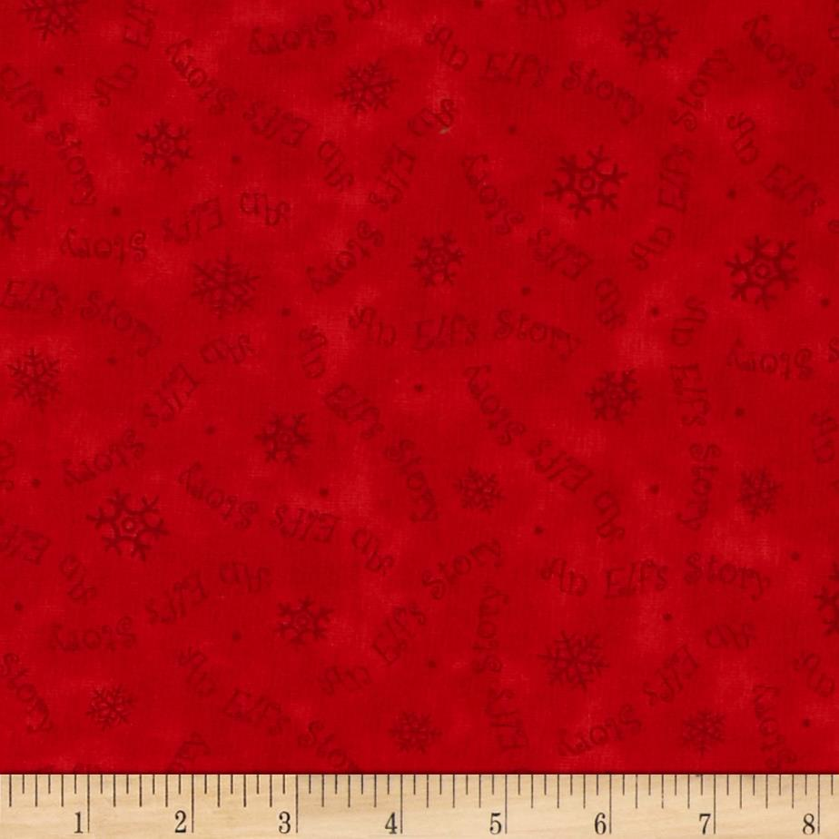 Elf on the Shelf An Elf Story Snowflake/Word Tonal Red