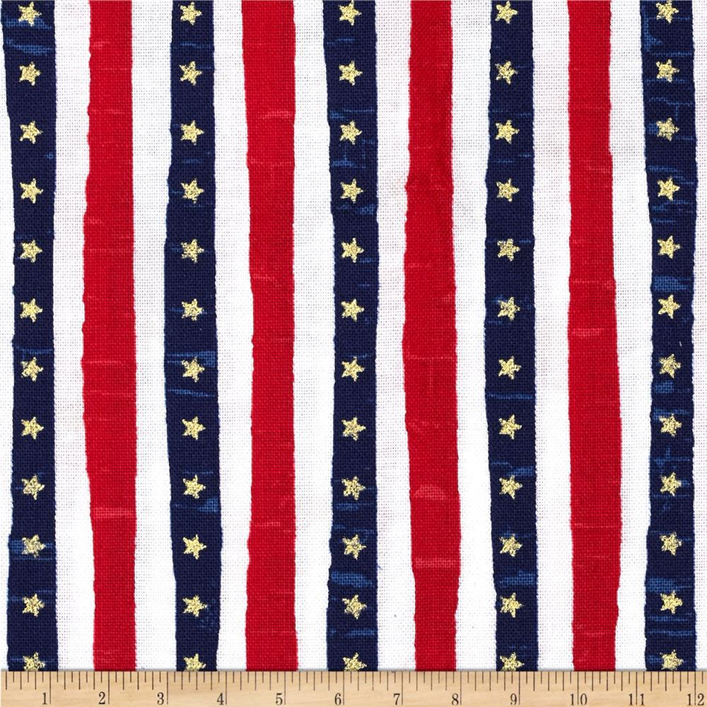 USA Metallic Stars & Stripes Multi