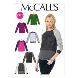 McCall's Misses' Tops Pattern M6992 Size B50