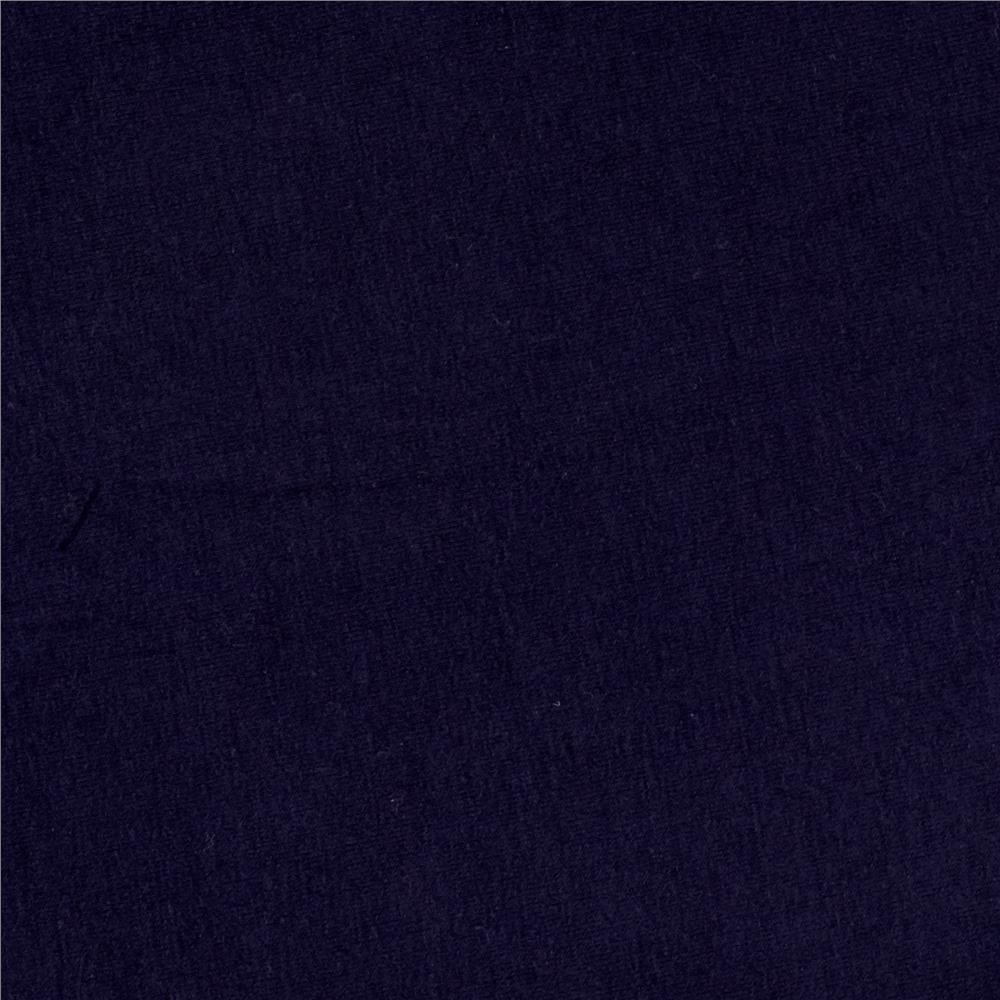 Micro Modal Rayon Jersey Knit Navy Fabric By The Yard