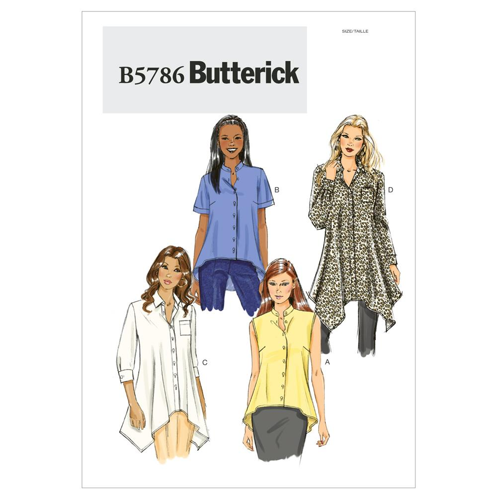 Butterick Misses' Shirt Pattern B5786 Size B50
