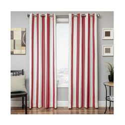 "Sunbrella 96"" Grommet Stripe Outdoor Panel Jockey Red"