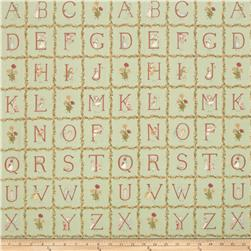 Lecien Kate Greenaway Alphabet Blocks Green