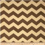 Chevron Fleece Tonal Mocha