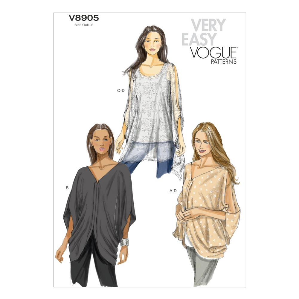 Vogue Misses' Top Pattern V8905 Size 0Y0