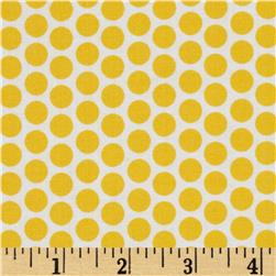 Riley Blake Honeycomb Reversed Dot White/Yellow Fabric