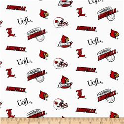Collegiate Cotton Broadcloth University of Louisville Fabric