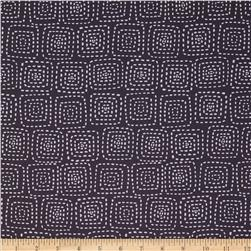 Michael Miller Stitch Square Charcoal Fabric