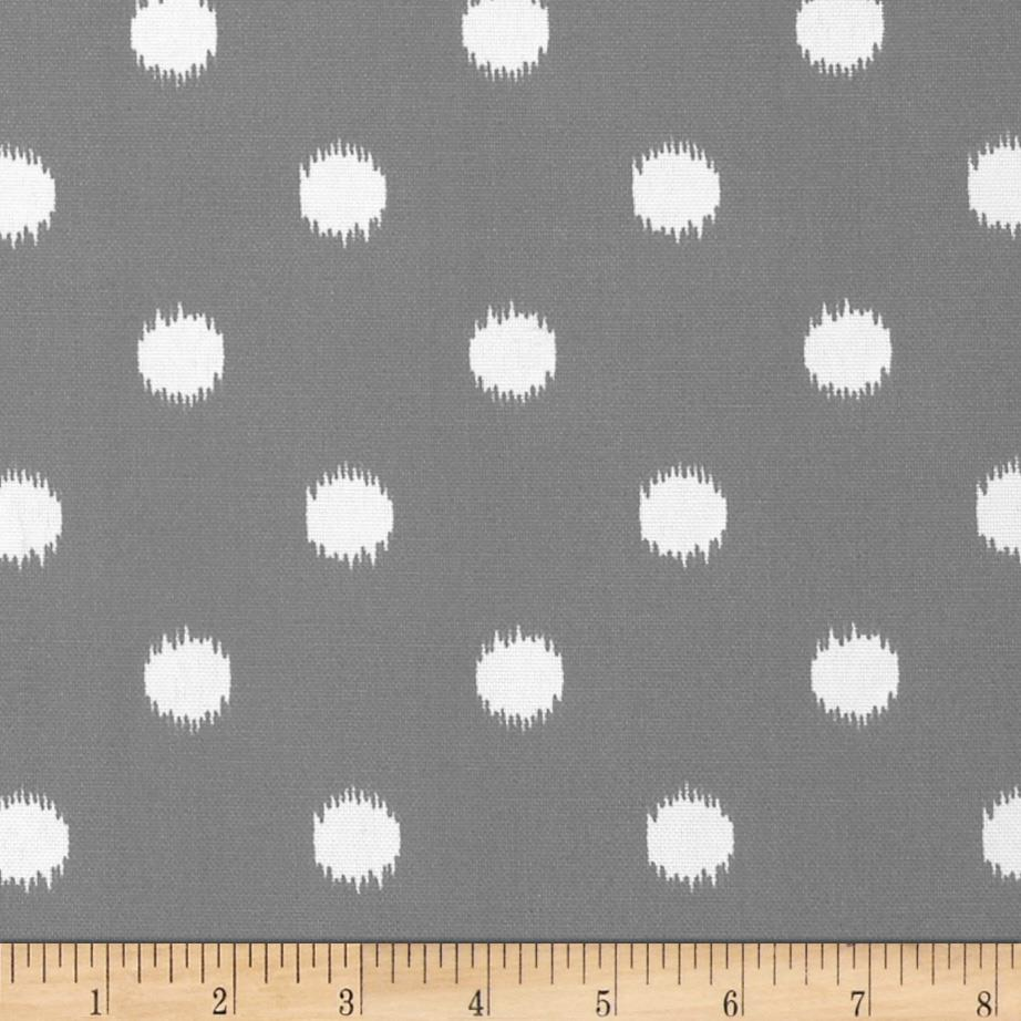 Discount outdoor fabric by the yard - Premier Prints Indoor Outdoor Ikat Dots Grey Discount Designer