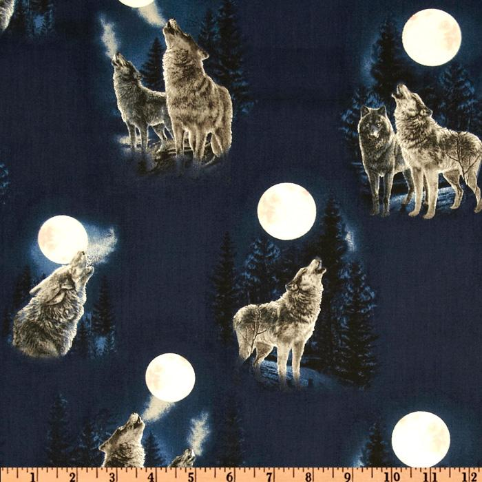 Full Moon Wolf Howl Midnight