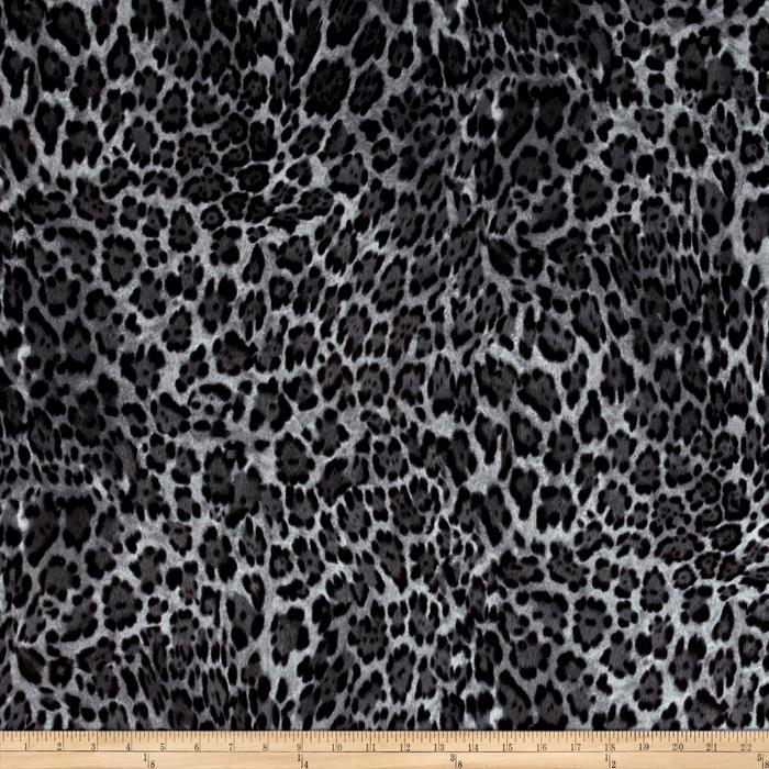 Flannel Animal Skins Leopard Grey