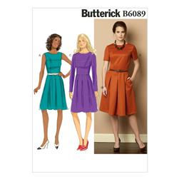 Butterick Misses'/Misses' Petite Dress Pattern B6089 Size A50